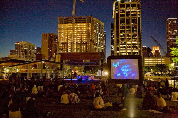 Silent Film/Live Music at Discovery Green
